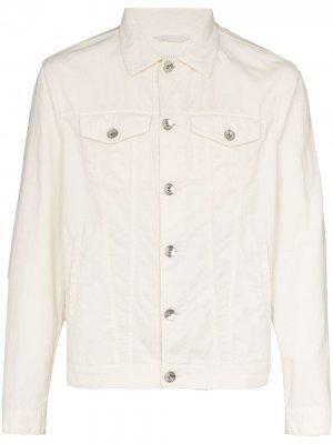 Джинсовая куртка на пуговицах Brunello Cucinelli. Цвет: белый
