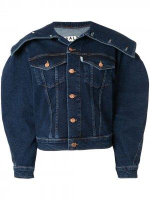 Структурированная джинсовая куртка Aalto. Цвет: синий