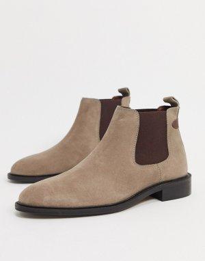 Серые замшевые ботинки челси Cranbrey-Серый Dune
