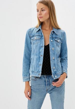 Куртка джинсовая Tommy Jeans. Цвет: голубой