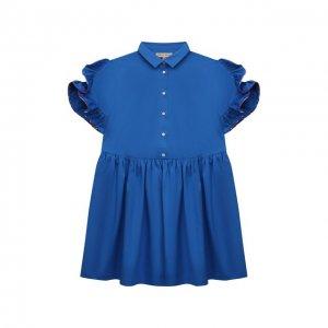 Хлопковое платье Emilio Pucci. Цвет: синий