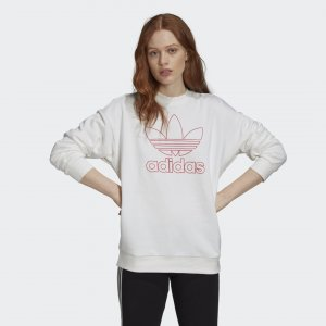 Свитшот Outline Trefoil Originals adidas. Цвет: белый