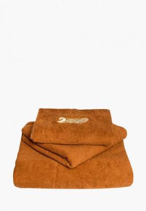 Набор полотенец Bellehome Символ года 2019. Цвет: коричневый