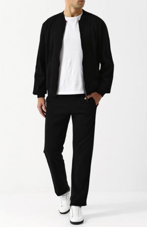 Хлопковый спортивный костюм Brioni. Цвет: чёрный