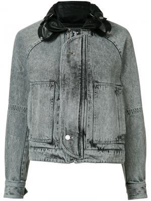 Джинсовая куртка с линялым эффектом Saint Laurent. Цвет: чёрный