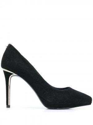 Туфли-лодочки на высоком каблуке DKNY. Цвет: черный