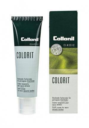 Крем для обуви Collonil Colorit, коричневый, 50 мл. Цвет: коричневый