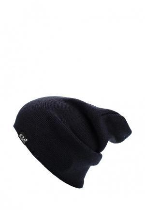 Шапка Jack Wolfskin RIB HAT. Цвет: синий