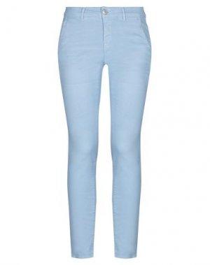 Повседневные брюки CARE LABEL. Цвет: небесно-голубой