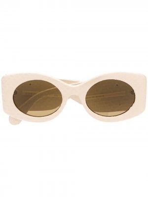 Солнцезащитные очки с логотипом Gucci Eyewear. Цвет: нейтральные цвета