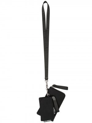 Двойной кошелек Rue St Guillaume со шнурком на шею Karl Lagerfeld. Цвет: черный