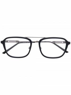 Очки-авиаторы Calvin Klein. Цвет: черный