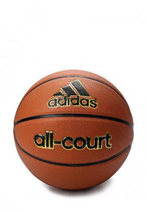 Мяч баскетбольный adidas ALL COURT. Цвет: коричневый