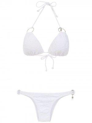 Bikini with metallic details Amir Slama. Цвет: белый