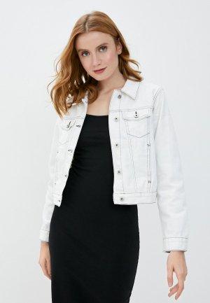 Куртка джинсовая Befree. Цвет: белый