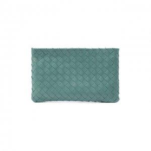 Кожаный футляр для документов Bottega Veneta. Цвет: синий