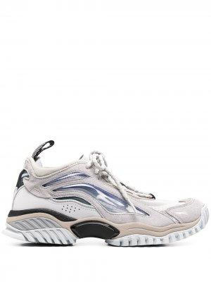 Кроссовки со вставками Li-Ning. Цвет: серый
