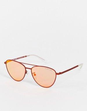 Солнцезащитные очки-авиаторы выжженного оранжевого цвета -Оранжевый цвет Michael Kors