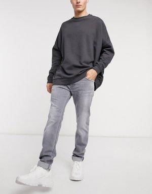 Светло-серые узкие эластичные джинсы Thommer-X-Серый Diesel