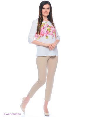 Блузка Битис. Цвет: белый, розовый