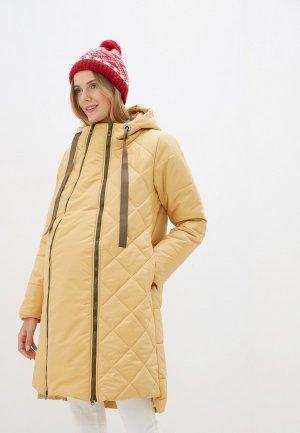 Куртка утепленная Мамуля красотуля ..в ожидании чуда. Цвет: желтый