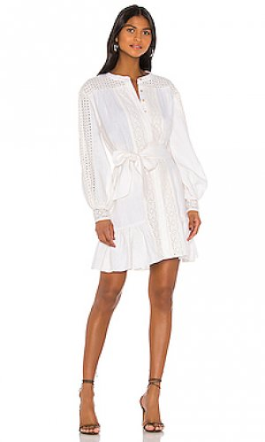 Мини платье bastina Joie. Цвет: белый