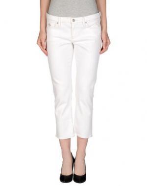 Джинсовые брюки-капри POLO JEANS COMPANY. Цвет: белый