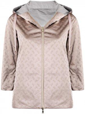Двусторонняя куртка с монограммой Herno. Цвет: розовый