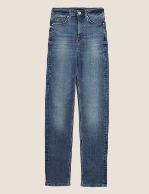 Джинсы Sophia прямого кроя M&S Collection. Цвет: голубой деним