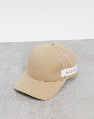 Светло-бежевая бейсболка с логотипом -Светло-бежевый BOSS