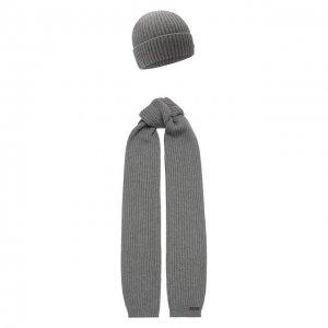 Комплект из шапки и шарфа Dsquared2. Цвет: серый