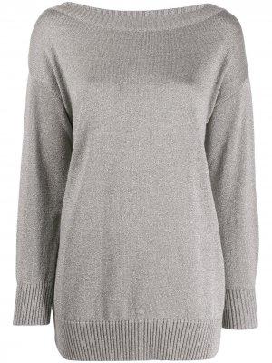 Пуловер с длинными рукавами P.A.R.O.S.H.. Цвет: серый