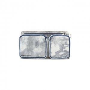 Текстильная поясная сумка Off-White. Цвет: синий