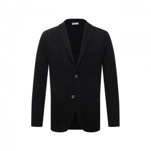 Пиджак изо льна и хлопка Gran Sasso. Цвет: чёрный