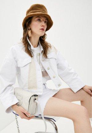 Куртка джинсовая Bimba Y Lola. Цвет: белый