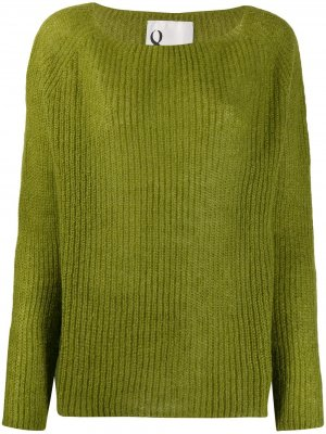 Ribbed knit boxy sweater 8pm. Цвет: зеленый