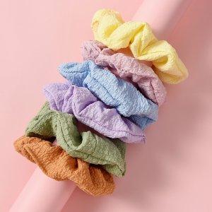 Для девочек 6шт Резинка волос SHEIN. Цвет: многоцветный