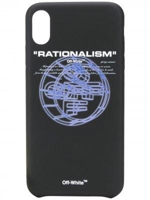 Чехол Rationalism для iPhone XS Off-White. Цвет: черный