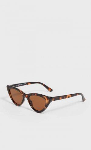 Солнцезащитные Очки «Кошачий Глаз» В Оправе Под Черепаху Женская Коллекция Коричневый 103 Stradivarius. Цвет: коричневый