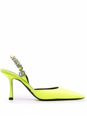 Туфли с логотипом Alexander Wang. Цвет: желтый