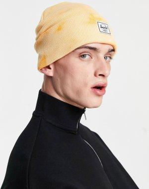 Оранжевая шапка-бини с принтом тай-дай . Elmer-Оранжевый цвет Herschel Supply Co