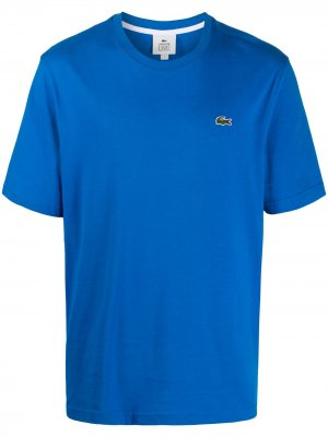 Футболка с логотипом Lacoste Live. Цвет: синий