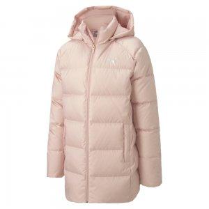 Детская куртка Long Down Jacket G PUMA. Цвет: розовый