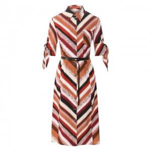 Шелковое платье Altuzarra. Цвет: коричневый