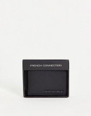 Черный бумажник классического складного дизайна -Черный цвет French Connection