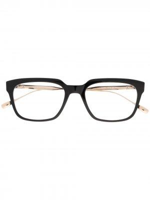 Очки трапециевидной формы Argand Dita Eyewear. Цвет: черный