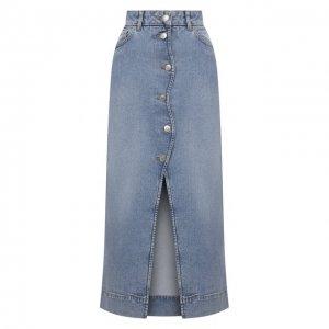 Джинсовая юбка Ganni. Цвет: голубой