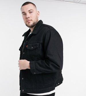 Черная джинсовая куртка Levis Big & Tall-Черный цвет Levi's