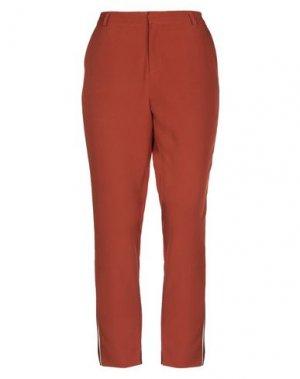 Повседневные брюки AAIKO. Цвет: ржаво-коричневый