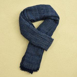 Мужской шарф с графическим принтом SHEIN. Цвет: темно-синий